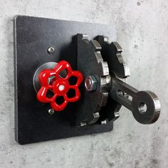 Dimmer Light Switch Cover / Gear & Lever / Steel / Urban