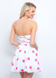Chic Short Strapless Polka Dot Off White Pink Print Homecoming Dress [Blush 11363 Off White Pink Print] - $145.00 : Prom Dresses 2017,Wedding Dresses & Gowns On Sale,Buy Homecoming Dresses From Ailsadresses.com
