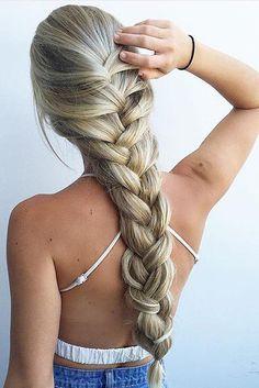 Thick Blonde Braid by @hairbyjaxx <3