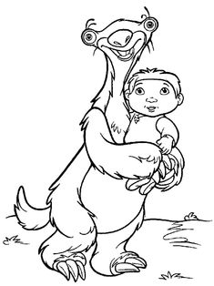 Ice Age Ausmalbild Free Kids Coloring Pages, Colouring Pages, Coloring Sheets, Coloring Pages For Kids, Adult Coloring, Coloring Books, Filly, Peacock Crafts, Disney Artwork
