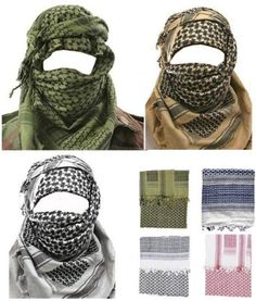 dd358655d238 Mens Protective SAS Army Military Desert Tactical Neck Head Wrap Combat Sun  Hat Scarf Shemagh Green
