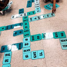 Math games 465137467764501796 - Literally trying anything to keep them entertained and busy the last few weeks of school. I made these giant multiplication and addition… Source by laurawillerval Math Resources, Math Activities, Fourth Grade Math, Third Grade Math Games, Math Intervention, Math Multiplication, Math Stations, Math Centers, Math Workshop