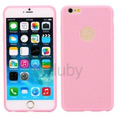 Weave Texture Soft TPU Case for iPhone 6 Plus Pink