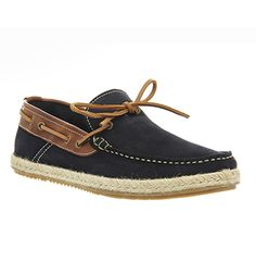Ask the Missus Bravo Boat Shoes Navy Washed Suede Tan Leather - Casual