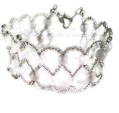 Rose Quartz Formal Jewelry - Rose Quartz Bracelet - Wedding Bracelet - Prom Bracelet - Wedding Jewelry - Prom Jewelry - Prom Quartz Jewelry