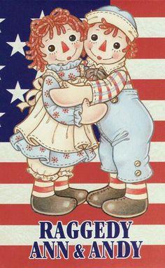 Patriotic Raggedy Ann Andy