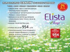 Elista Village by Paramountland. Rumah Cantik di Gading Serpong