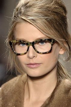 Michael Kors chunky tortoise shell glasses