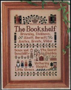 cross stitch library, LOVE