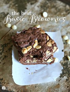 The Best Basic Brownies Recipe   Delicious brownies anytime you want them! Made with your own homemade brownie mix you store ahead of time!   TodaysCreativeLife.com