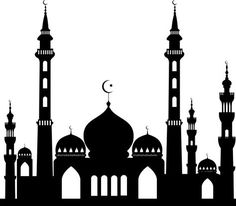 Masjid in Islam - Just as worshipping holds a special rank in Islam so there had to be a place that also holds a special place for worshipping. Mosque Silhouette, Silhouette Vector, Eid Mubarak Wallpaper, Wallpaper Display, Disney Fantasy, Thinking Day, Islamic Calligraphy, Luxor, Islamic Art