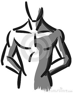 Illustration that represents a muscled man stylized.