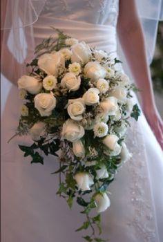 White Rose Bouquet - Unique Bridal Bouquet