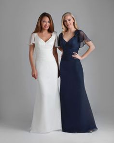 white dress for wedding vow renewal or bridesmaids