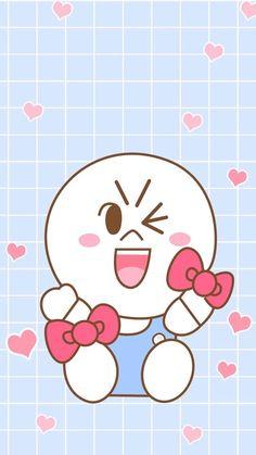 Line Friends, Cute Bears, Hello Kitty, Stickers, Cartoon, Manga, Deco, Iphone Wallpapers, Brown