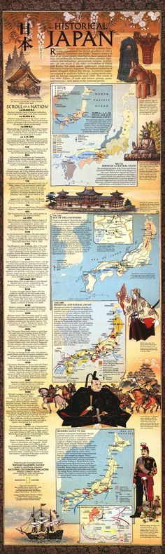 History of Japan Infographic. This would be a cool way to present the history of a world and or empire. Japanese History, Asian History, Japanese Culture, Japanese Art, British History, Culture Art, Ancient History, History Medieval, Haunted History