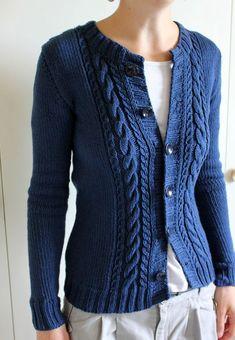 Easy Sweater Knitting Patterns, Knitting Paterns, Knit Cardigan Pattern, Knitting Designs, Knit Patterns, Knit Fashion, Knit Crochet, Crochet Baby Boots, Cardigans For Women