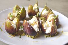 This elegant recipe is incredibly easy to make. Wow your pallet with the jammy flavor of figs, soft and creamy texture of ricotta cheese, nutiness of crushed pistachios, all topped with a drizzle of sweet, local honey.
