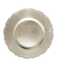 {Silver charger plate} This would be perfect for a tray of fancy cookies or chocolates.