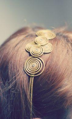 Serre Tête or végétal headband bijoux capim dourado www.meninachicbresil.com