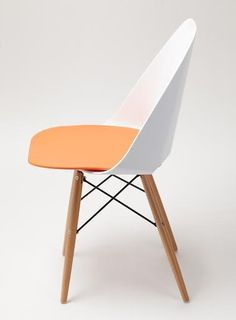 This set of 4 Plaza Chairs in Orange are sure to make a statement in your home