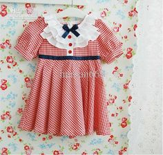 Girl Clothing Fasshion Ciothing Girl Dress Plaid Dress 2012 New Style 5 pcs/lot In stock