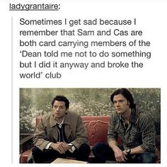 """And then you remember that Dean is a card-carrying member of the """"I-recieved-many-warnings-from-everyone-and-still-did-it-and-landed-us-all-in-a-pile-of-crap"""" club,"""
