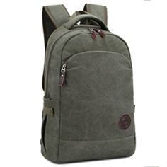 MB-18 Unisex Vintage Casual Backpack Daypack Fashion Pack Canvas Leather Travel Hiking Backpacks, Campus College Bookbag Rucksack, Gym Shoulder Bag, Portable Carry Case Bag for Ipad Google Nexus SamSung Galaxy Note 10.1 N8000 Microsoft Surface 10-15 inch Computer Laptop, Tablet PC Unisex.