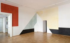 Site-specific watercolour mural by Ernst Caramelle, 2011.