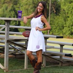 Monogrammed Juniors Strappy Dress from Marleylilly.com