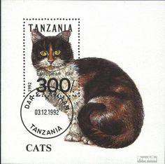 tanzanie Bloc 201 (complète.Edition.) oblitéré 1992 Chats (Timbres pour les collectionneurs)