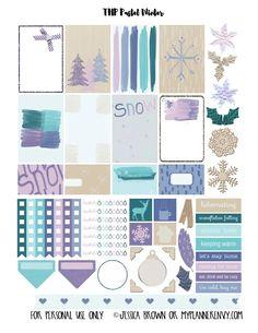Pastel de Inverno Sampler - Planner Printable livre | Meu Planner Envy