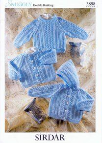 BABY KNITTING PATTERN Aran Tunic Jacket Waistcoat /& Beret *F146