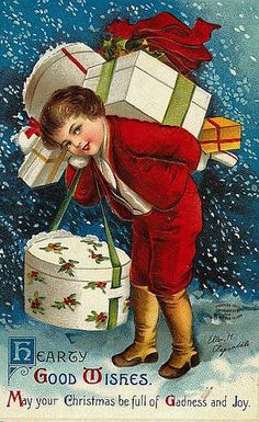Vintage Christmas Boy ~ Ellen H. Clapsaddle * 1500 free paper dolls Christmas gifts artist Arielle Gabriels The International Paper Doll Society also free paper dolls The China Adventures of Arielle Gabriel *