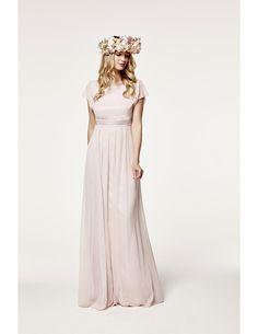 A-line Bateau Sleeveless Sashes/Ribbons Long Chiffon Bridesmaid Dress
