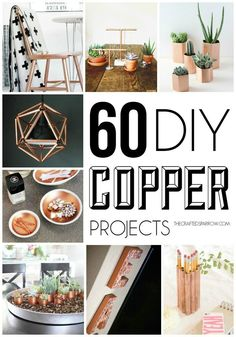 Usually I get lostfor hours in the internet looking for the perfect DIY projects, but when I stumbled upon today's round up by The Crafted SparrowI just had to post about the entire thing! I am loving me a little copper at the moment and while we all know the...
