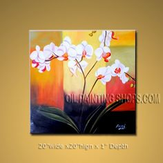 """Enchanting Large Wall Art for Dinning Room Decor Art Orchid 20"""" x 20"""" #1028 