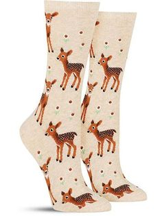 Awesome Spring Deer Animal Socks for Women