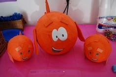 Made these using paper mache :)  Mr. Grouper & Little Fish from Bubble Guppies