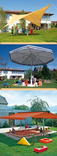 Outdoor Play Spaces, Kindergarten, Public, Nursery, Garden, Playground Ideas, Game Room, Sun Sails, Summer Days