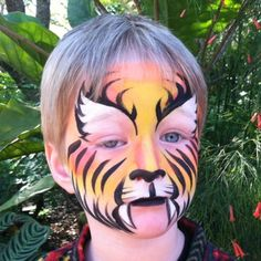 maquillaje fiesta tigre