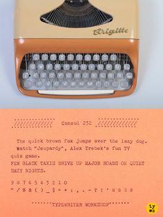 A gorgeous ultra-portable Brigitte typewriter from the 1960's! TYPEWRITER WORKSHOP https://www.etsy.com/shop/TypewriterWshop