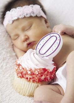 """How sweet it is. Mark that very special """"birth day"""" celebration with a cupcake! Photo by Angela Tritle Photography."""