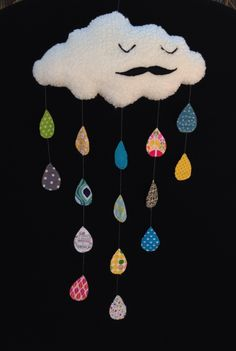 Mr. Cloud - Herr Wolke - Senhor Nuvem - mobile - nursery decoration - Mimis Lovables #mimislovables