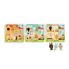Peel away the layers of this gorgeous wooden Rabbit Cottage puzzle from Djeco Wooden Puzzles, Jigsaw Puzzles, Wooden Toys, Family Guy Episodes, Wooden Rabbit, Easter Gifts For Kids, Bugaboo, Baby Play, Illustrations