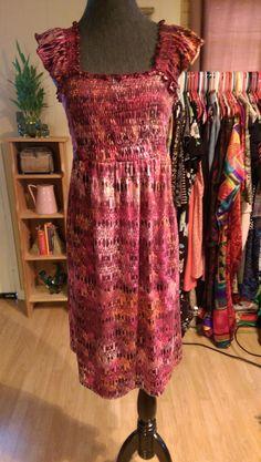 EMERALD Womans Plus Size Dress Size 2X Stretch Bohemian Purple Pink #Emerald #AsymmetricalHem #BusinessorCasual