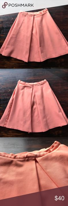Devlin coral circle skirt Twirl to your hearts content! This great circle skirt hits above the knee and is a great knit fabric. 18.75 in long. No rips tears or stains. Open to offers. Devlin Skirts Circle & Skater