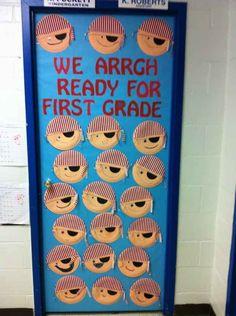Arrgh you ready? School Door Decorations, Classroom Decor Themes, Classroom Door, Classroom Design, Classroom Displays, School Classroom, Classroom Ideas, School Displays, Pirate Door