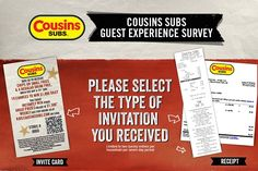 Spend just few minutes in Cousins Subs Survey Sweepstakes and grab a chance to win $1000 daily or $1500 weekly cash prize. #SurveySweepstakes #Feedback #Win #Big #Cash