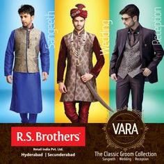 #RSBrothers presenting #VARA – The Classic Groom Collection, for all your precious wedding moments. Visit your nearest store today!